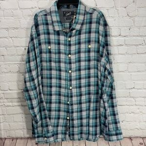 NWOT Grayers Clothier Mens Plaid Button Down SZ XL